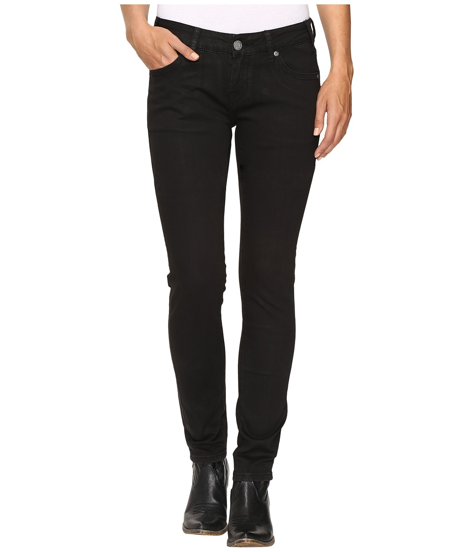 Rock and Roll Cowgirl - Low Rise Skinny Jeans in Black W0S9631 (Black) Women's Jeans