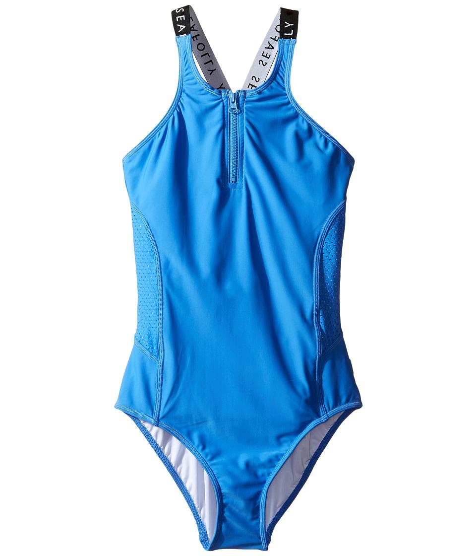 Seafolly Kids - Summer Essentials Tank One-Piece (Little Kids/Big Kids) (Hawaii Blue) Girl's Swimsuits One Piece