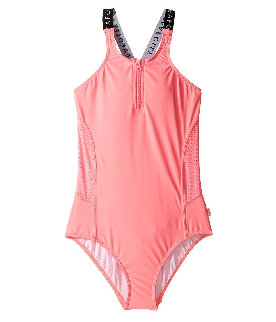 Seafolly Kids - Summer Essentials Tank One-Piece (Little Kids/Big Kids) (Pink Lemonade) Girl's Swimsuits One Piece