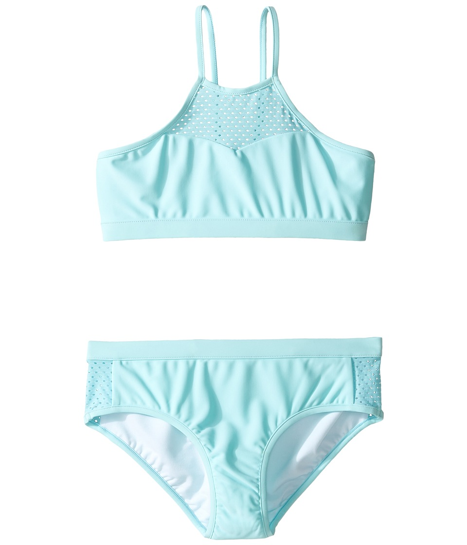 Seafolly Kids - Summer Essentials Apron Tankini Set (Little Kids/Big Kids) (Sky Blue) Girl's Swimwear Sets