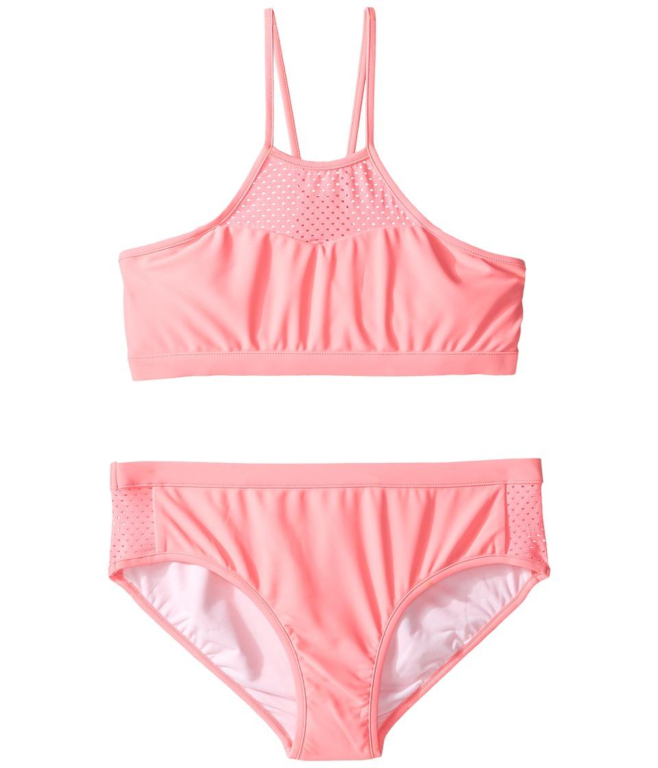 Seafolly Kids - Summer Essentials Apron Tankini Set (Little Kids/Big Kids) (Pink Lemonade) Girl's Swimwear Sets