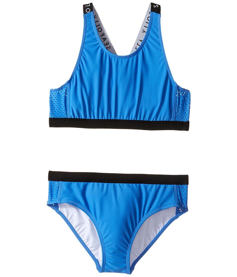 Seafolly Kids Summer Essentials Tankini Set (Little Kids/Big Kids) (Hawaii Blue) Girl