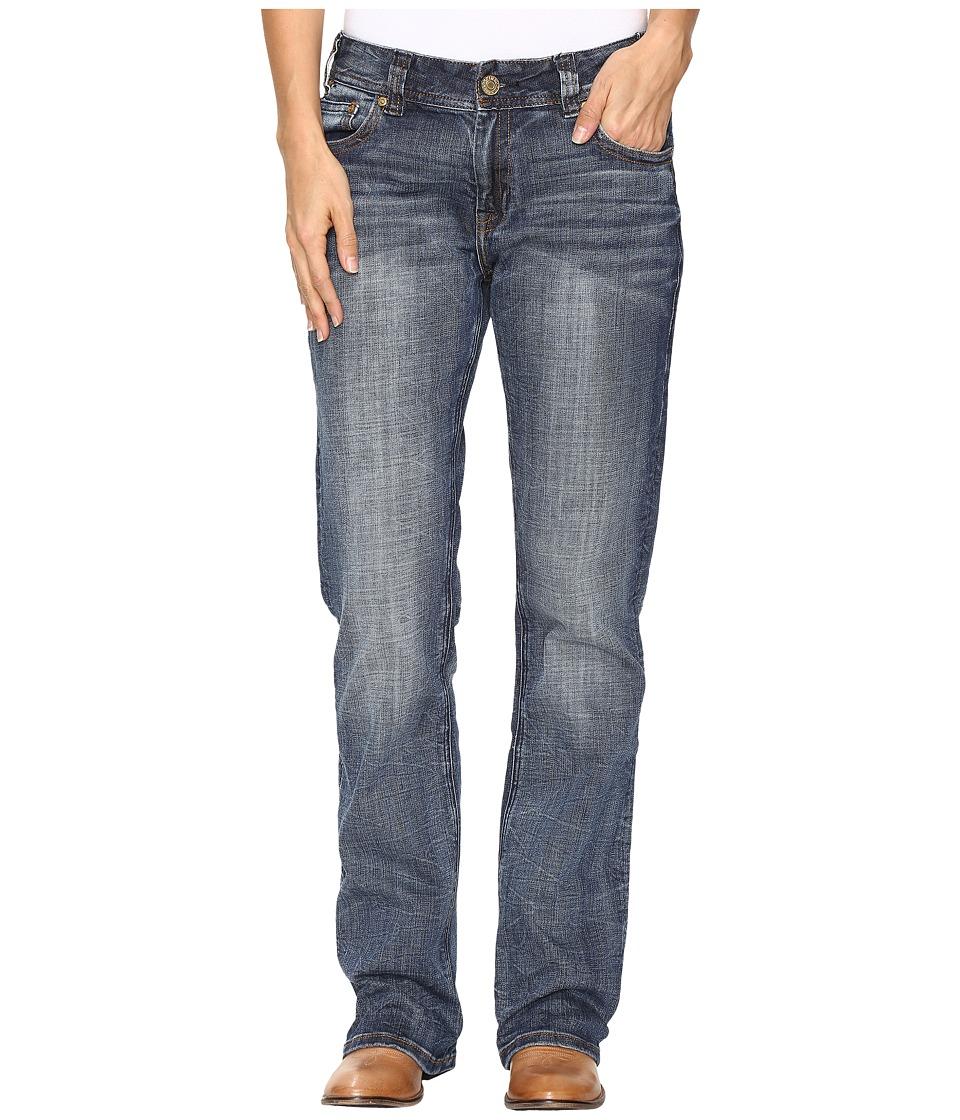 Rock and Roll Cowgirl - Boyfriend Bootcut Jeans in Dark Vintage W2-9626 (Dark Vintage) Women's Jeans