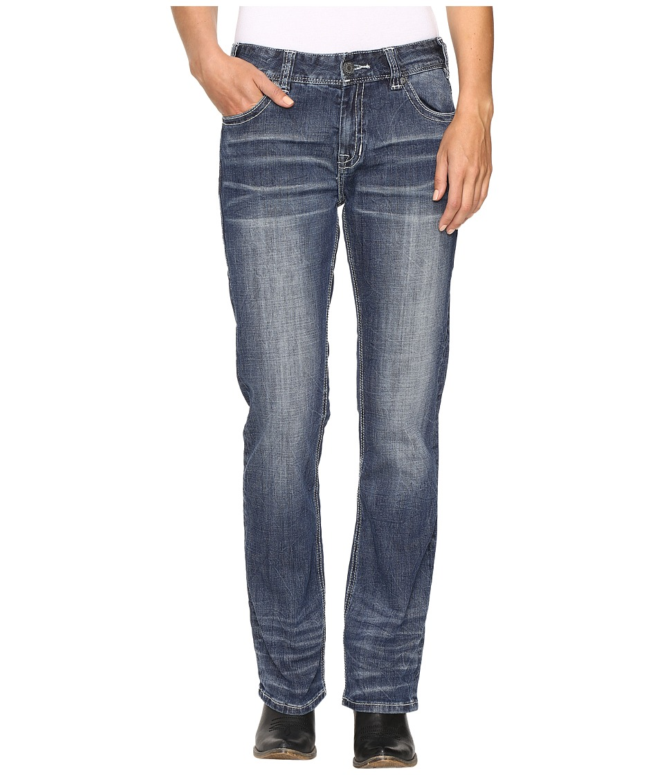 Rock and Roll Cowgirl Boyfriend Bootcut Jeans in Medium Vintage W2-9623 (Medium Vintage) Women