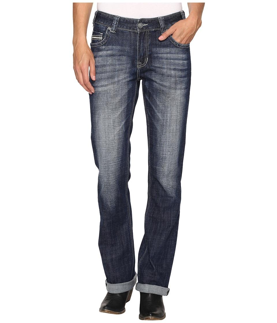 Rock and Roll Cowgirl - Boyfriend Bootcut Jeans in Dark Vintage W2-9625 (Dark Vintage) Women's Jeans
