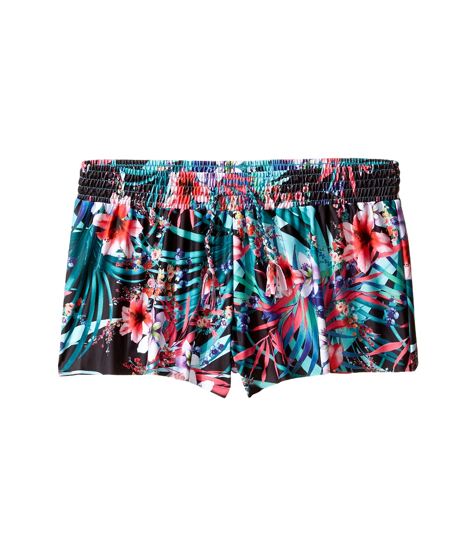 Seafolly Kids - Tropical Vacation Boardie (Little Kids/Big Kids) (Black Floral) Girl's Swimwear