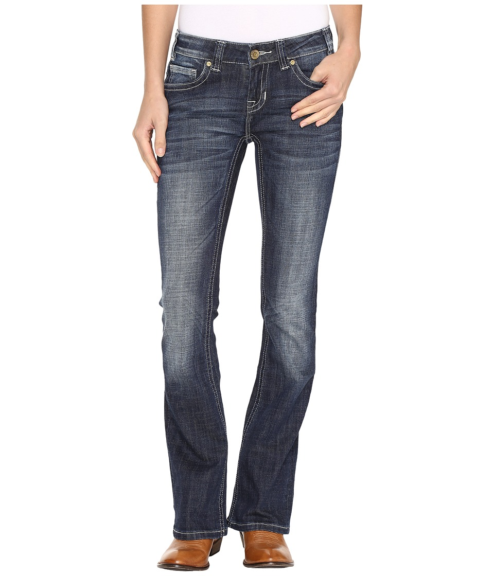 Rock and Roll Cowgirl - Rival Low Rise Jeans in Dark Vintage W6-9610 (Dark Vintage) Women's Jeans