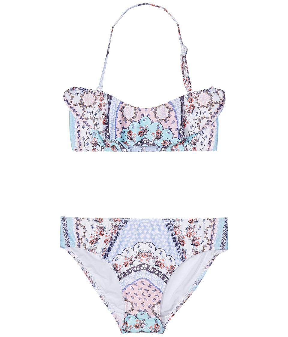 Seafolly Kids - Ditsy Romance Mini Tube Bikini Set (Little Kids/Big Kids) (Multi) Girl's Swimwear Sets