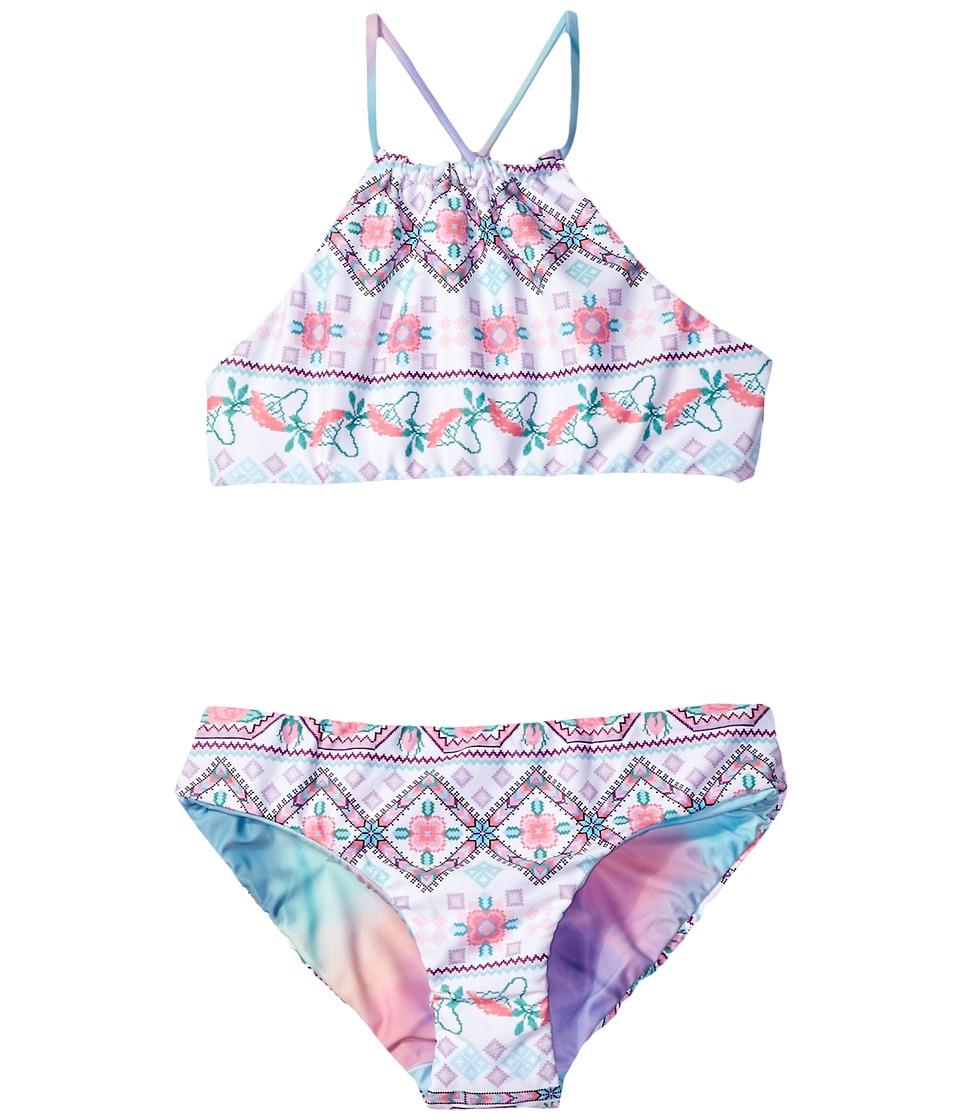 Seafolly Kids - Festival Surf Reversible Tankini Set (Little Kids/Big Kids) (Multi) Girl's Swimwear Sets