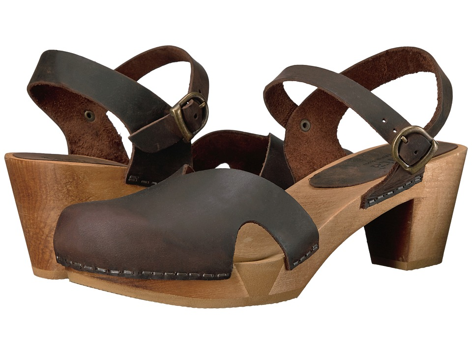 Sanita Matrix Square Flex Sandal (Antique Brown) Women