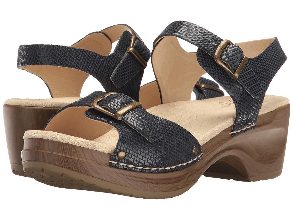 Sanita - Davia (Navy Snake) Women's Sandals