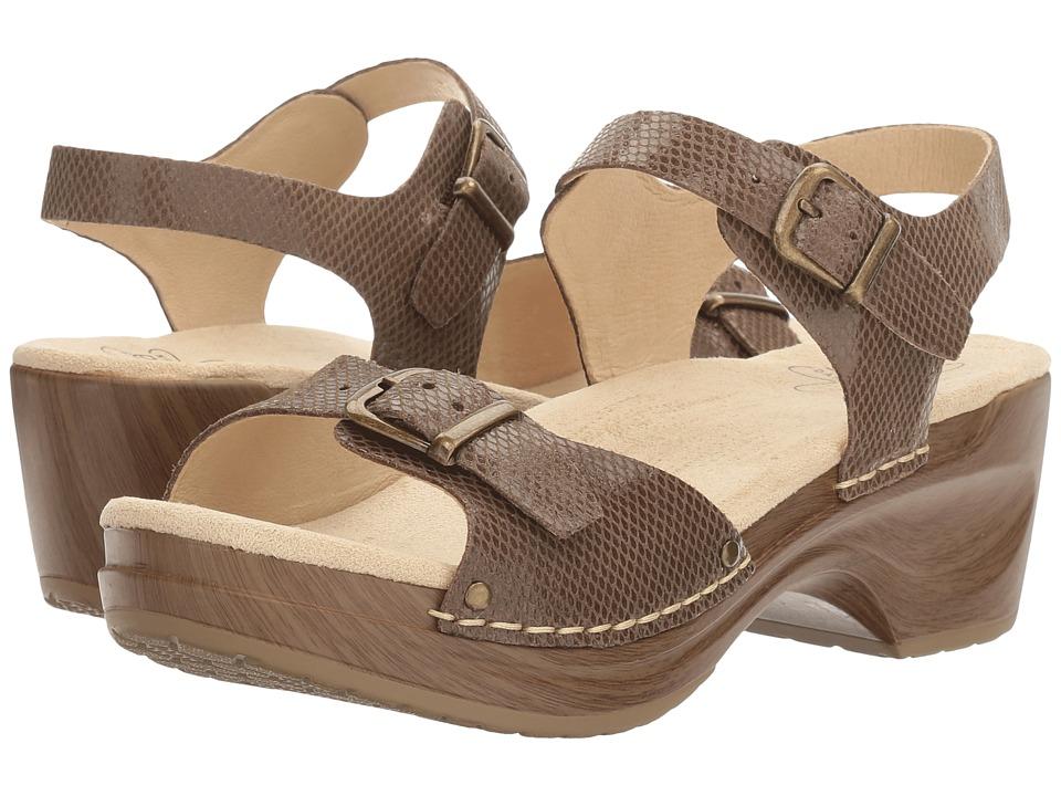 Sanita - Davia (Brown Snake) Women's Sandals
