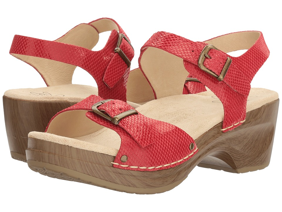 Sanita - Davia (Red Snake) Women's Sandals