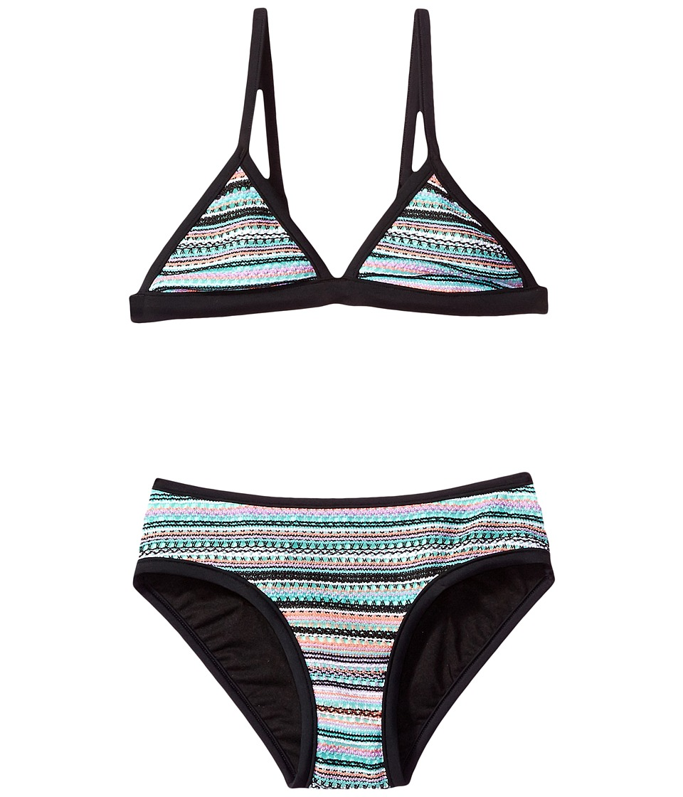 Seafolly Kids - Festival Surf Stripe Trikini Set (Little Kids/Big Kids) (Multi) Girl's Swimwear Sets