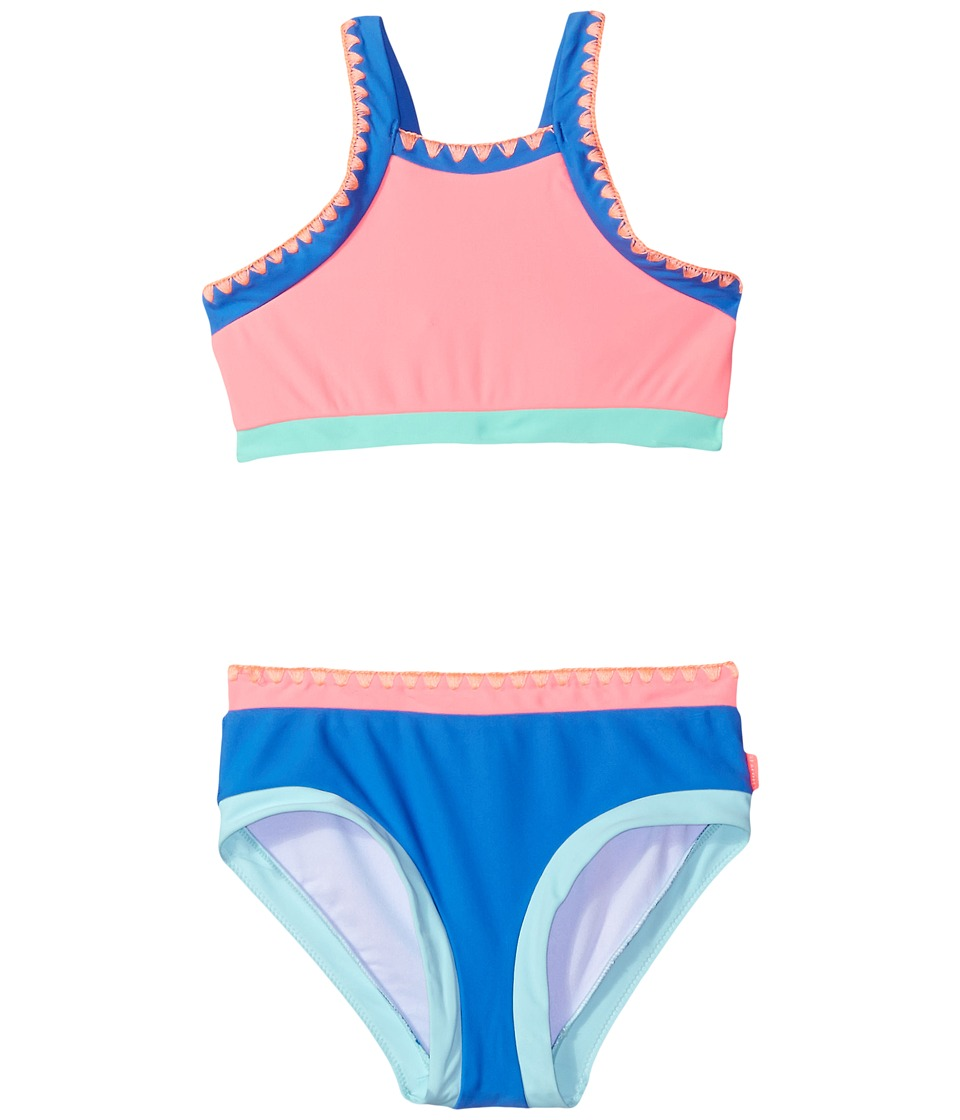 Seafolly Kids - Festival Surf Block Tankini Set (Little Kids/Big Kids) (Pink Lemonade) Girl's Swimwear Sets