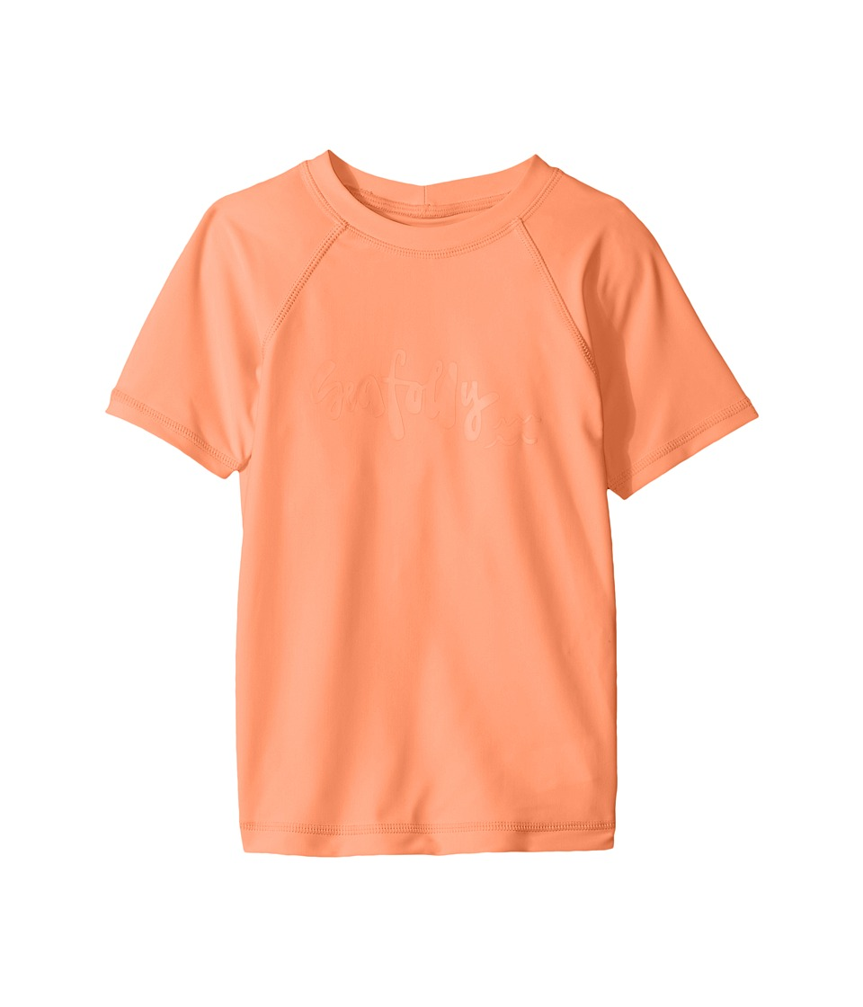 Seafolly Kids Sweet Summer Short Sleeve Rashie (Infant/Toddler/Little Kids) (Rockmelon) Girl
