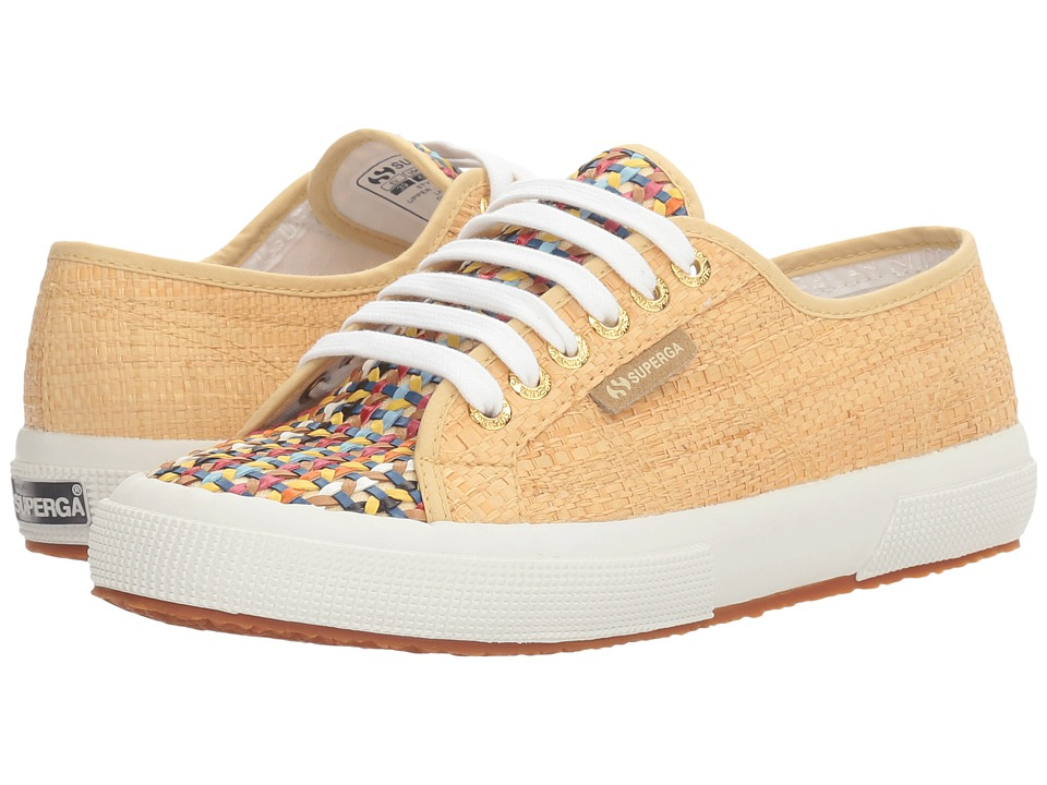 Superga - 2750 Raffia Multi (Natural/Multicolor) Women's Shoes