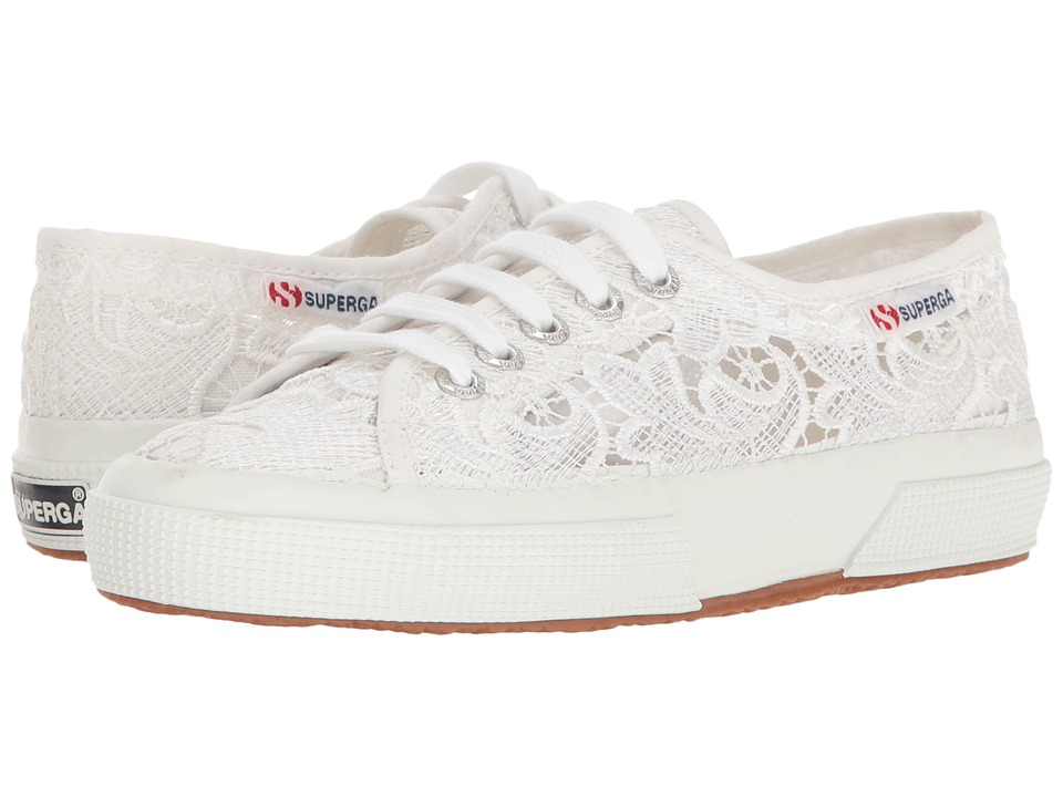 Superga - 2750 Lace (White Cotton) Women's Lace up casual Shoes