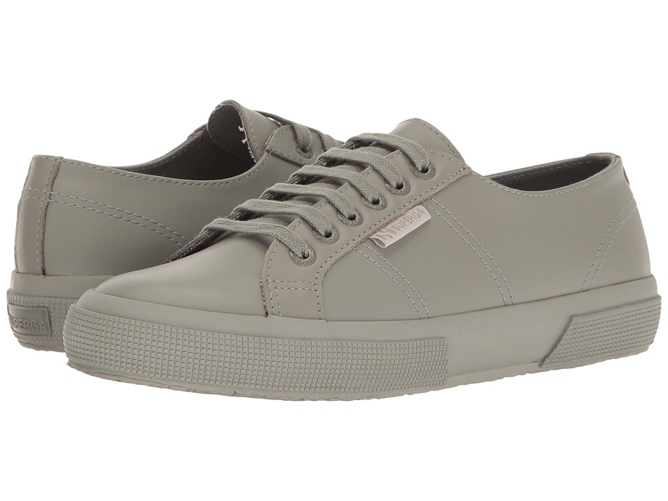 Superga - 2750 FGLU (Fossil Grey Leather) Women's Lace up casual Shoes