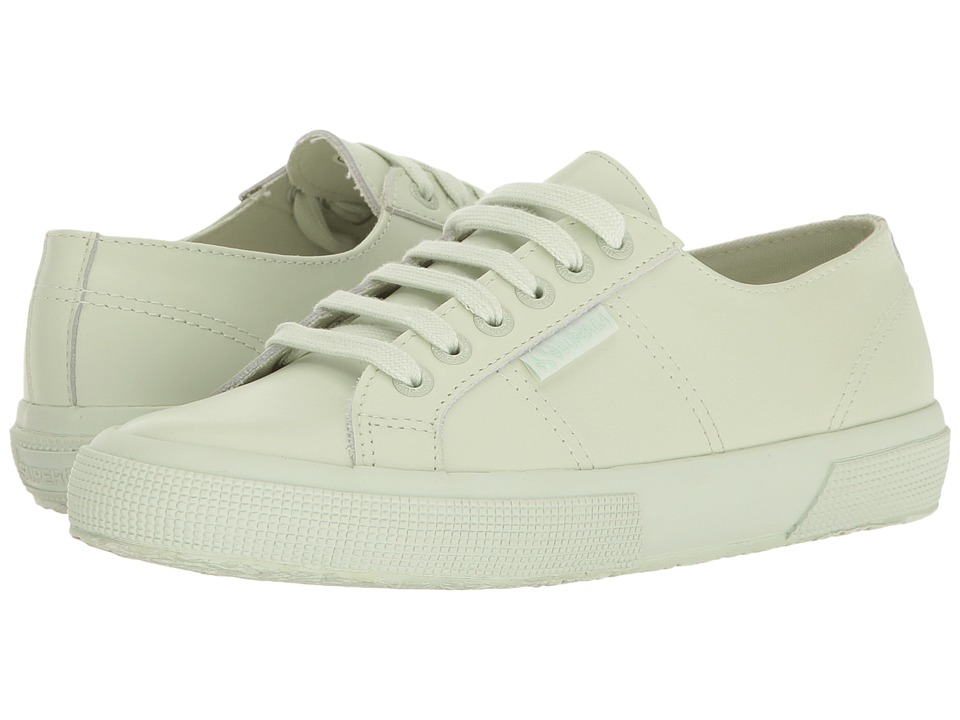 Superga - 2750 FGLU (Total Mint Leather) Women's Lace up casual Shoes