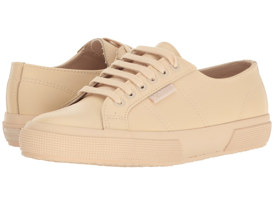 Superga - 2750 FGLU (Ivory Leather) Women's Lace up casual Shoes