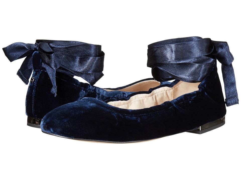 Sam Edelman - Fallon (Inky Navy Silky Velvet) Women's Dress Sandals