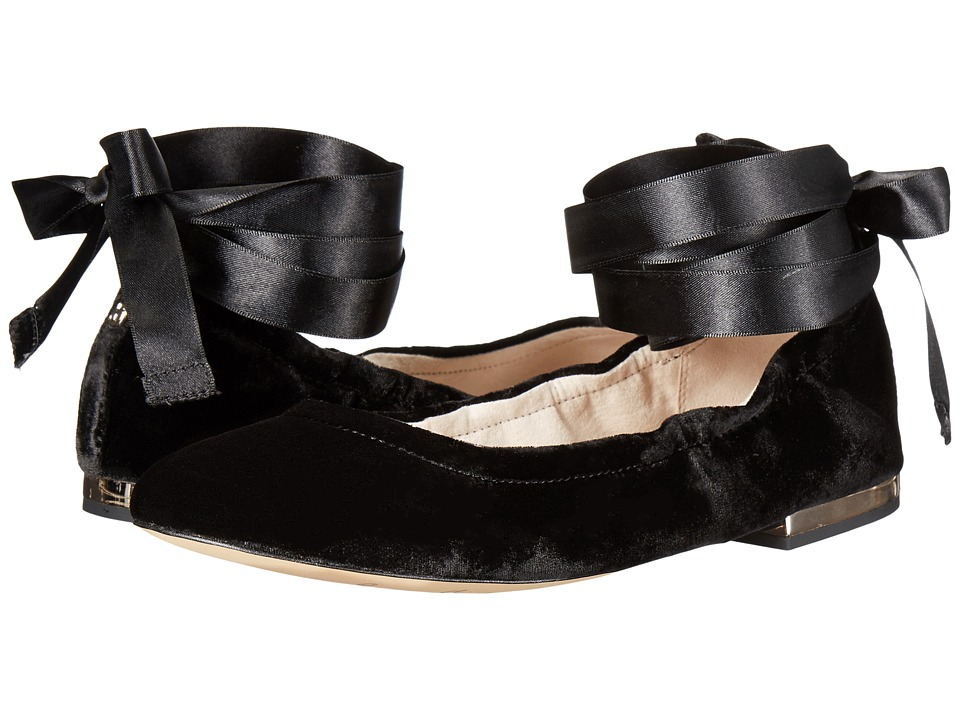 Sam Edelman - Fallon (Black Silky Velvet) Women's Dress Sandals