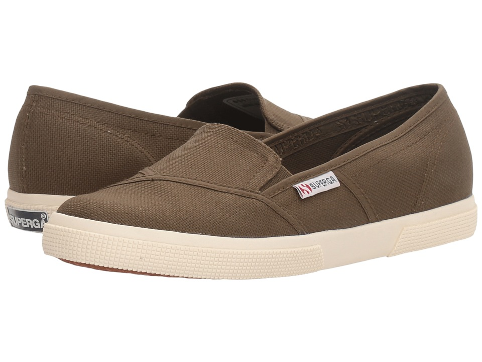 Superga - 2210 COTW Slip-On (Military Canvas) Women's Slip on Shoes