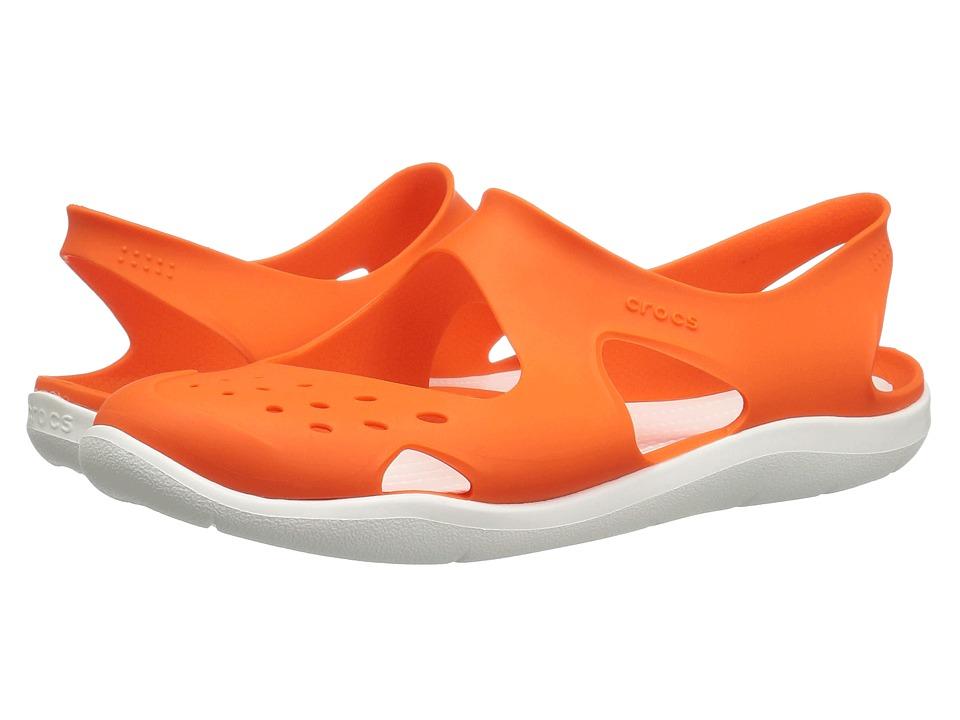 Crocs - Swiftwater Wave (Active Orange) Women's Sandals