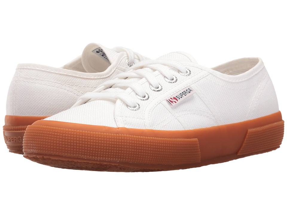 Superga - 2750 COTU Classic (White/Gum Foxing) Lace up casual Shoes