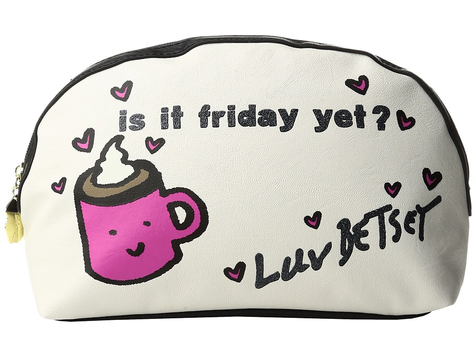 Luv Betsey - Friday Cosmetic Pouch (White) Cosmetic Case
