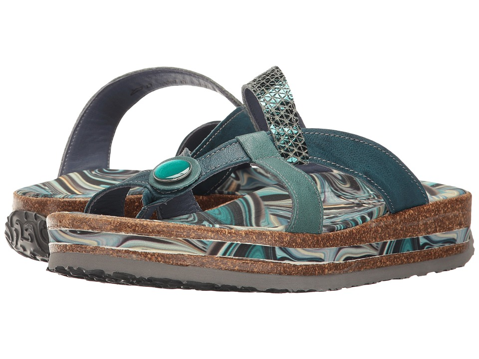 Think! - Zega - 80383 (Petrol/Kombi) Women's Sandals