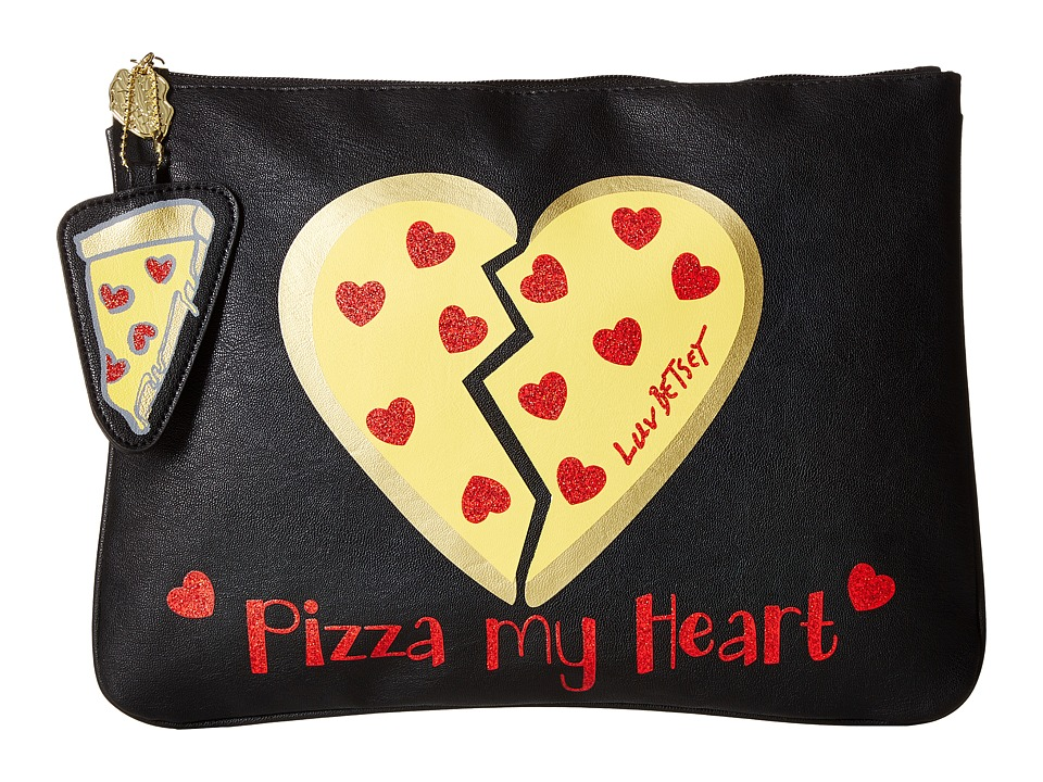 Luv Betsey - Pizza Tablet Pouch (Black) Wallet