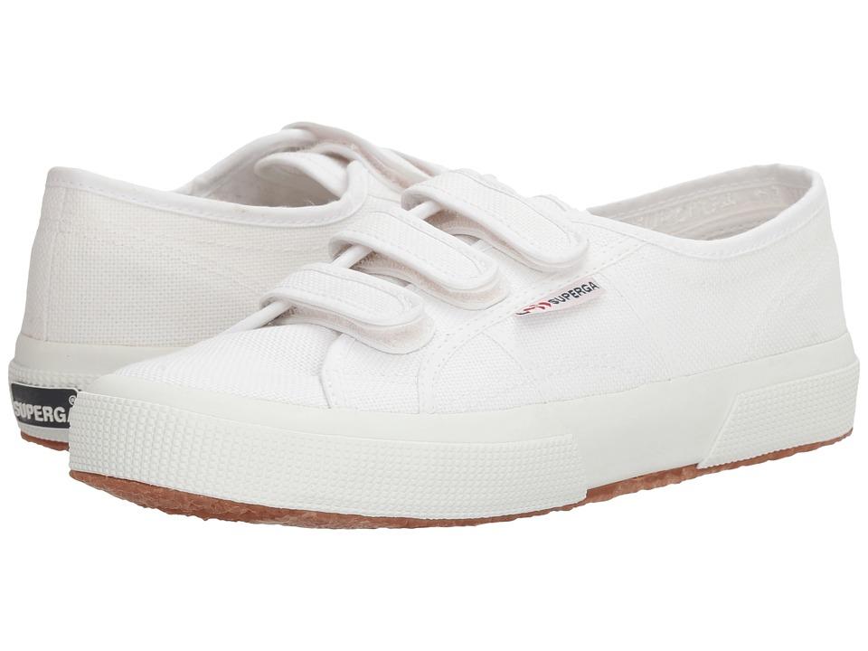 Superga 2750 Cot3VelU (White Canvas) Women
