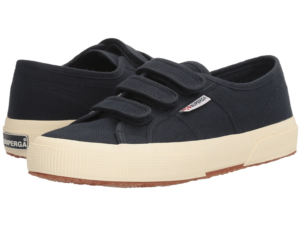 Superga - 2750 Cot3VelU (Navy Canvas) Women's Shoes