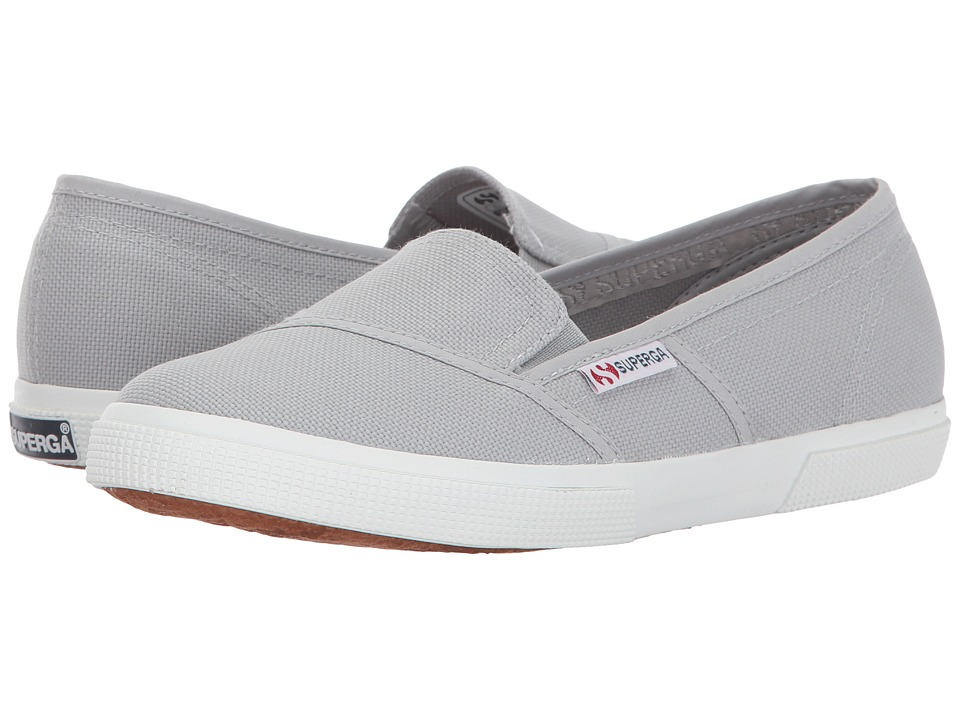 Superga - 2210 COTW Slip-On (Light Grey) Women's Slip on Shoes