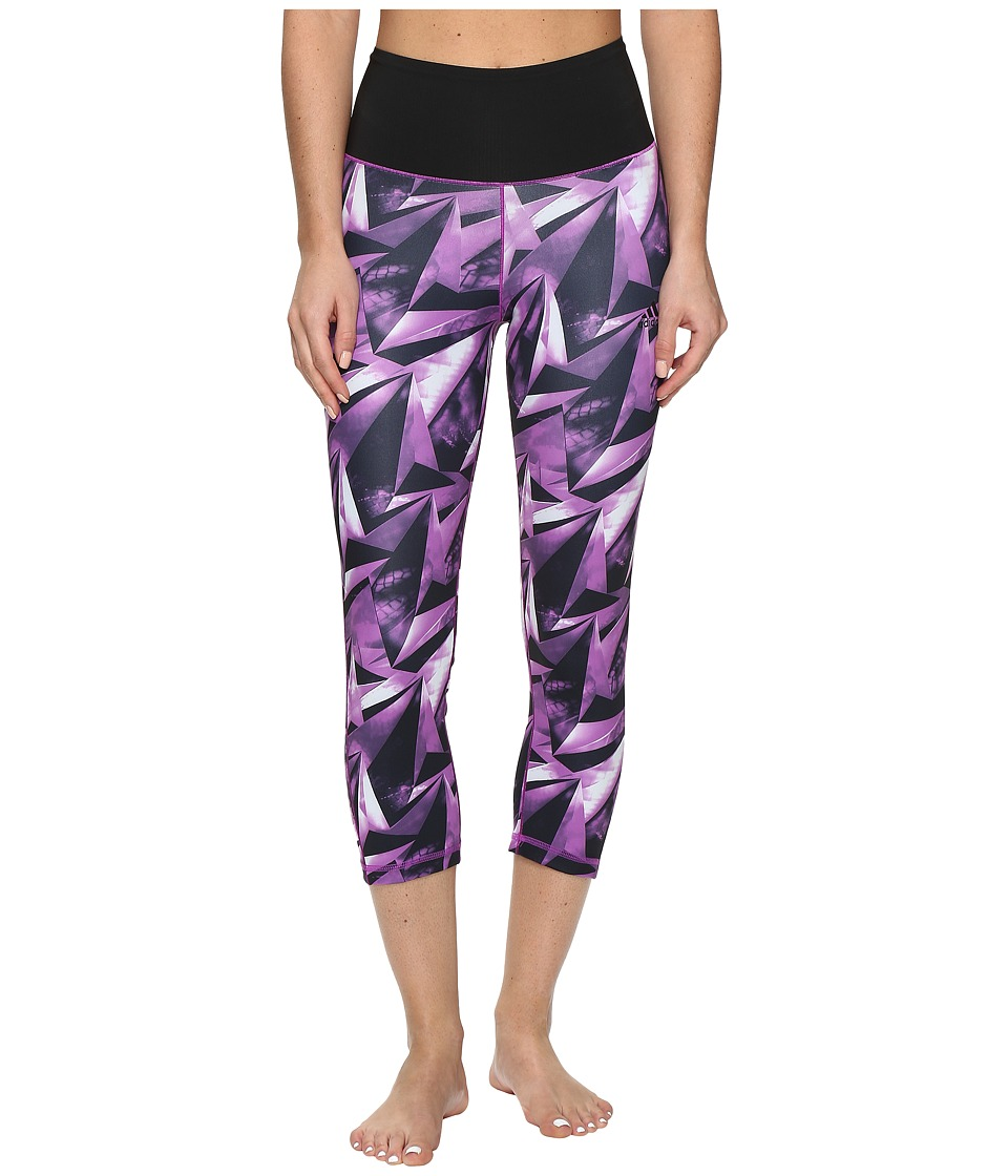 adidas Performer High Rise 3/4 Tights (Multicolor/Shock Purple) Women