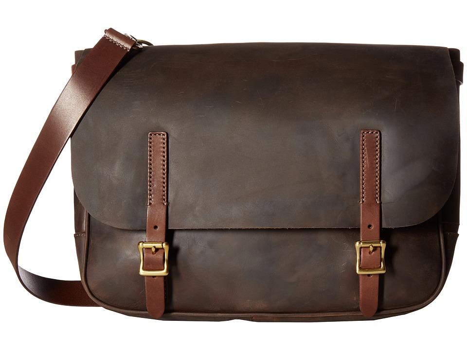 Fossil - Special Edition Artisan Messenger (Dark Brown) Messenger Bags