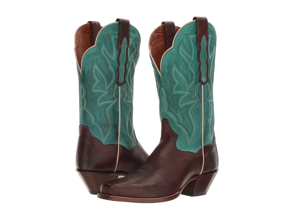 Dan Post - Darby (Chocolate/Turquoise) Cowboy Boots