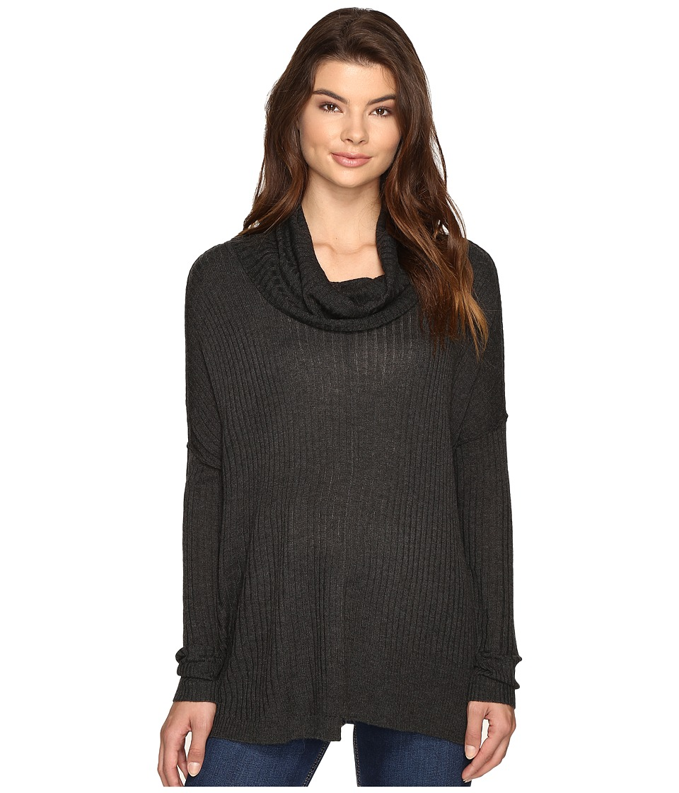 Brigitte Bailey - Algelie Cowl Neck Ribbed Sweater (Steel) Women's Sweater