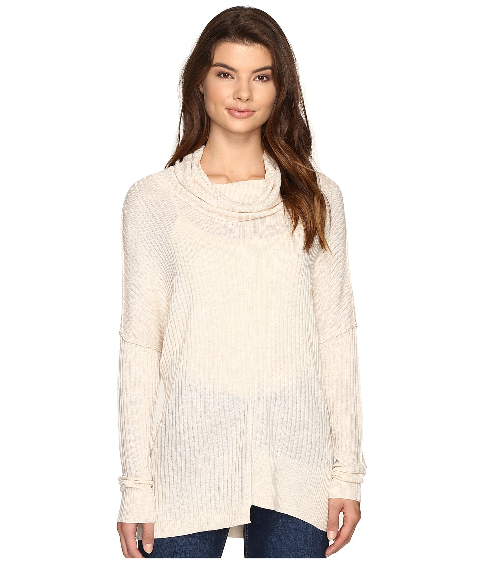 Brigitte Bailey - Algelie Cowl Neck Ribbed Sweater (Oatmeal) Women's Sweater