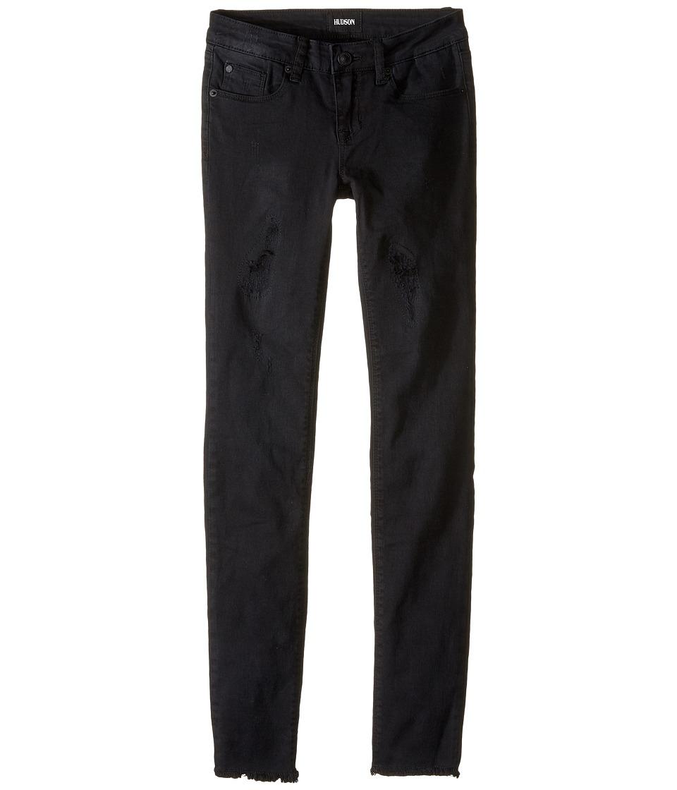 Hudson Kids - Five-Pocket Super Stretch Skinny with Destruction Jeans in Splatter Pop (Splatter Pop) Girl's Jeans