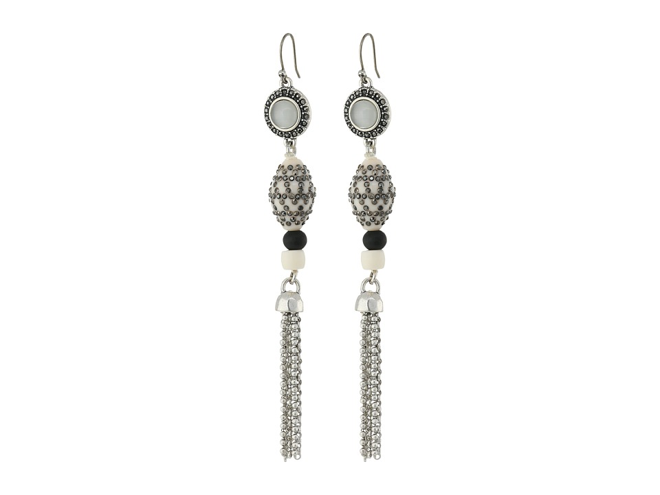 Lucky Brand - Bone Linear Earrings (Silver) Earring