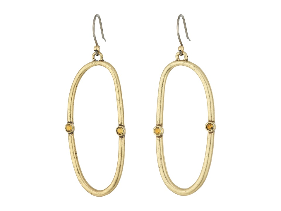 Lucky Brand - Open Hoop Earrings (Gold) Earring