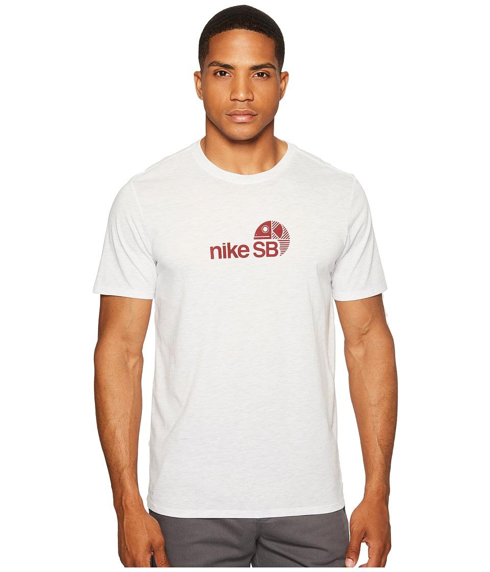 Nike SB - Dry Tee SB Dri-Blend Fish (Birch Heather/Team Red) Men's T Shirt