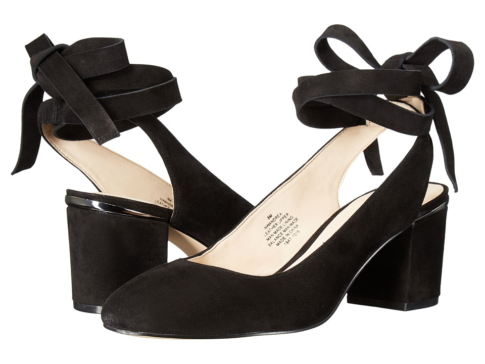 Nine West Andrea (Black Suede) Women