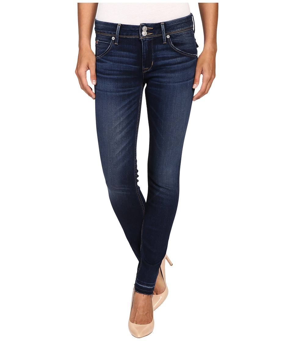 Hudson Collin Mid-Rise Released Hem Skinny w/ Distress in Pin Point (Pin Point) Women