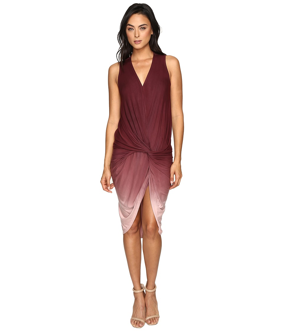 Young Fabulous & Broke - Palomo Dress (Burgundy Ombre) Women's Dress