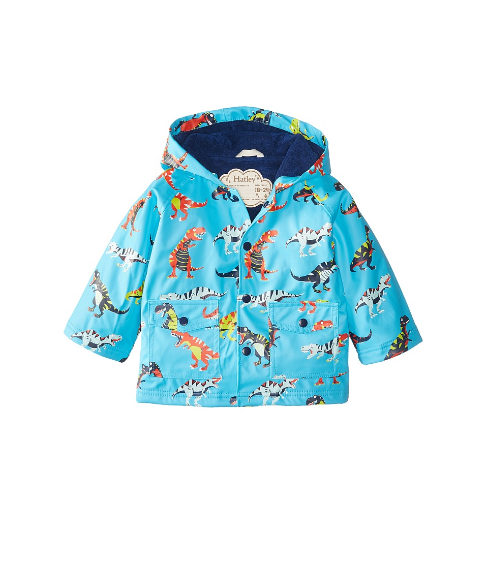 Hatley Kids - Roaring T-Rex Raincoat (Infant) (Blue) Boy's Coat