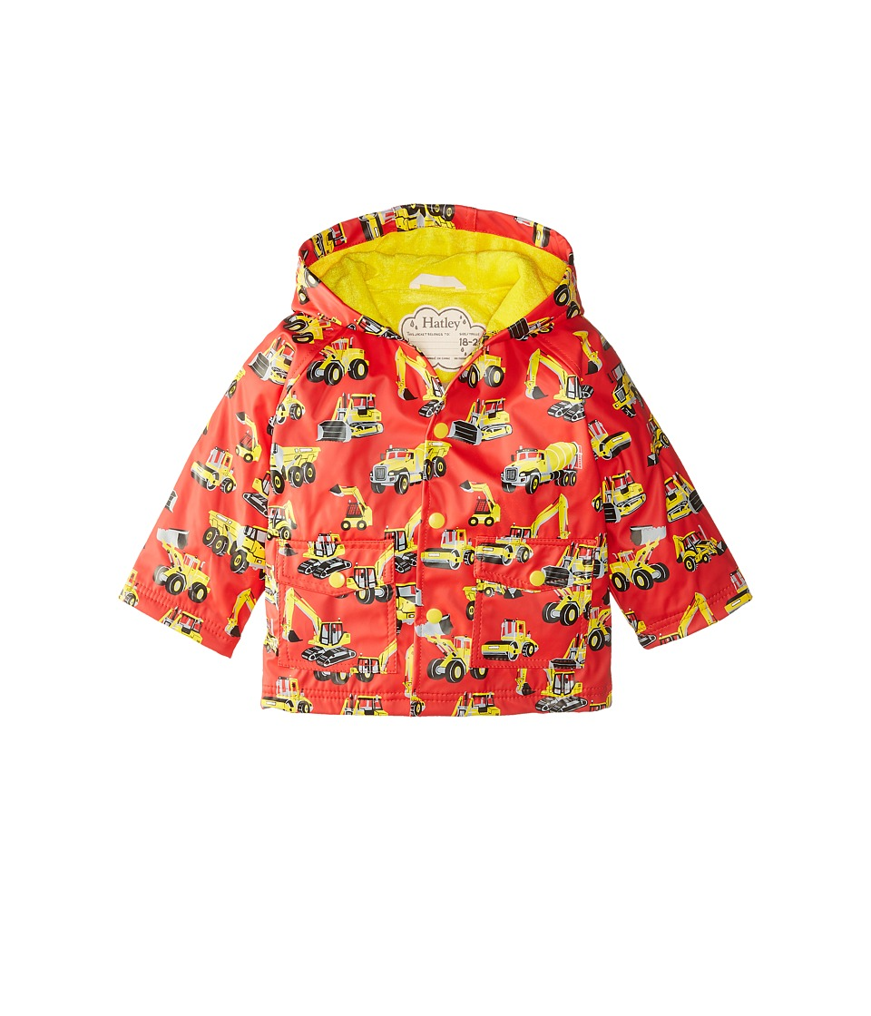 Hatley Kids - Heavy Duty Machines Raincoat (Infant) (Red) Boy's Coat